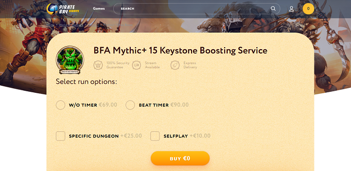 wow mythic 15 keystone boost