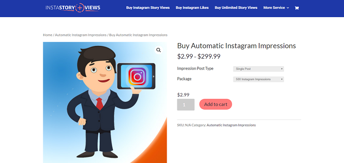 Buy instagram impression